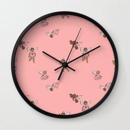Cupid Legion Pattern- Pink Wall Clock