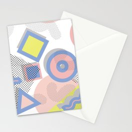 Memphis Geometric Pattern Stationery Cards