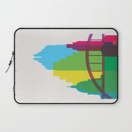 Shapes of Austin. Accurate to scale. Laptop Sleeve