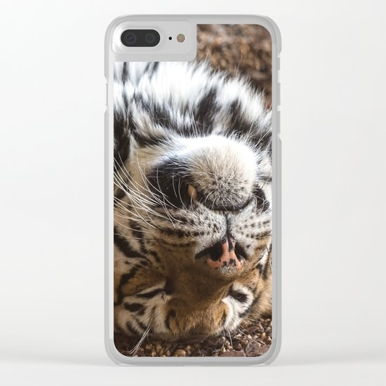 Tiger Portrait Clear iPhone Case