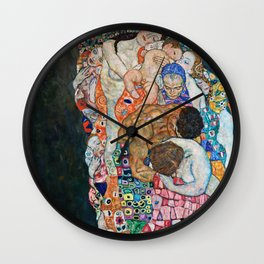 Gustav Klimt - Death And Life Wall Clock