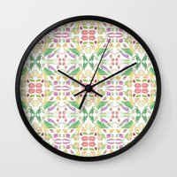 vegetables Wall Clocks featuring Vegetables by Amy Pearson