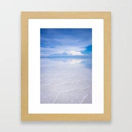 Salar de Uyuni desert, Bolivia Framed Art Print