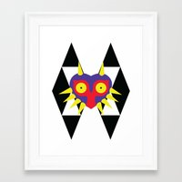 majora Framed Art Prints featuring Minimalist Majora by Bradley Bailey