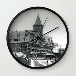1885 Street View, Island of Jamestown, Rhode Island, Canonicus Ave. looking north at Thorndike Hotel Wall Clock