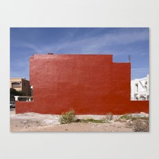 Red house under the sky Canvas Print
