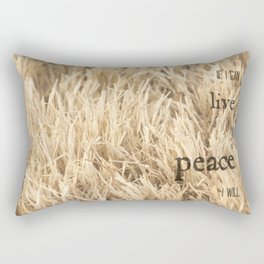 Live in Peace Rectangular Pillow