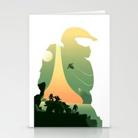 master chief Stationery Cards featuring Master Chief by DamianSantamaria