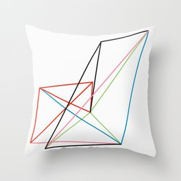 Connection Lines 1 Throw Pillow