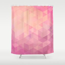 Geometric Pink  Shower Curtain