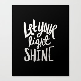 Let Your Light Shine II Canvas Print