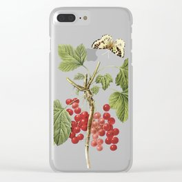 Botanical Print, Red Currant, Ribes Rubrum Clear iPhone Case