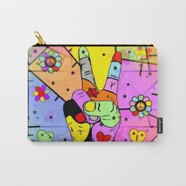 Peace Popart by Nico Bielow Carry-All Pouch