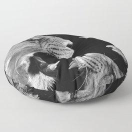 Lion B&W Floor Pillow