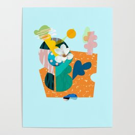A flower in Antibes Poster