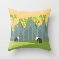 vietnam Throw Pillows featuring Vietnam by Illusorium