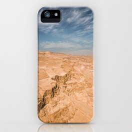 Judaean Desert, Israel. Nature photography poster art print iPhone Case