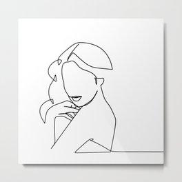 Woman Line Metal Print