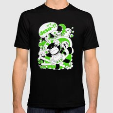 Desu~!!: Green MEDIUM Black Mens Fitted Tee