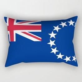 Cook Islands Flag Rectangular Pillow