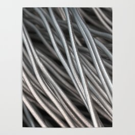 Twisted aluminum wires Poster