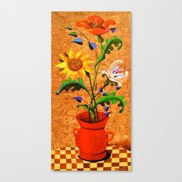 Vertical bouquet. Flowers. Canvas Print