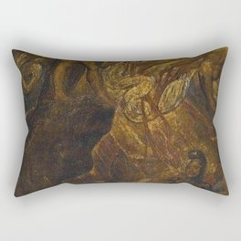 William Blake - The Bard, from Gray Rectangular Pillow