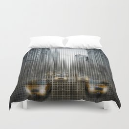 Graphic Art NYC 5th Avenue Traffic V Duvet Cover