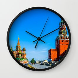 Red Square of Moscow Wall Clock