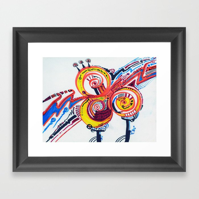 EOG Bulbs Framed Art Print By Markkunoff