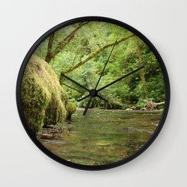 Creek bed Wall Clock