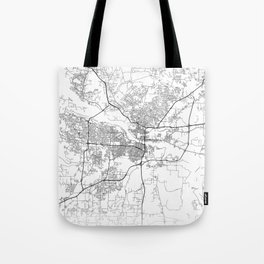 Minimal City Maps - Map Of Little Rock, Arkansas. Tote Bag