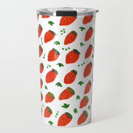 Strawberries Travel Mug