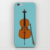 cello iPhone & iPod Skins featuring Cello by Illustrated by Jenny