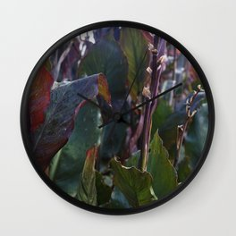 Tropical Rainforest Leaves Wall Clock