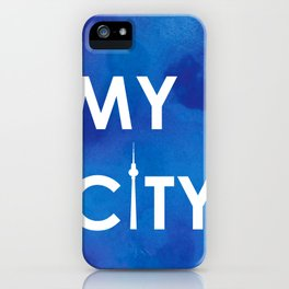 MyCity-Berlin-BlueA iPhone Case