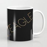 eagle Mugs featuring Eagle by Ganech joe