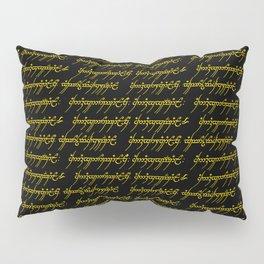 Elvish // Gold & Black Pillow Sham