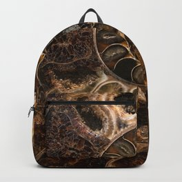 Earth treasures - Fossil in brown tones Backpack