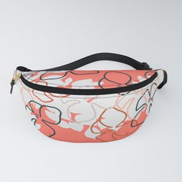 Coral Geraniums Fanny Pack