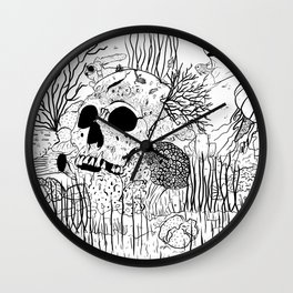 Down where it's wetter Wall Clock