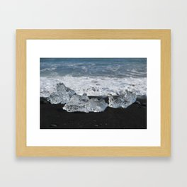Beached ice Framed Art Print