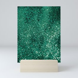 Sparkling EMERALD Lady Glitter #1 #shiny #decor #art #society6 Mini Art Print