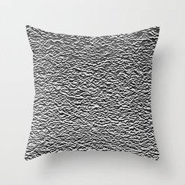 Dark Side of the Moon Silver Crater Abstract Throw Pillow