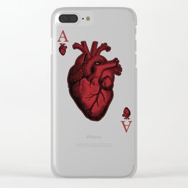 Ace of Hearts Clear iPhone Case