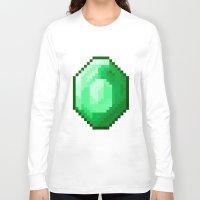 emerald Long Sleeve T-shirts featuring Emerald by Masonicz