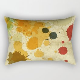 Golden Rod Splash Rectangular Pillow