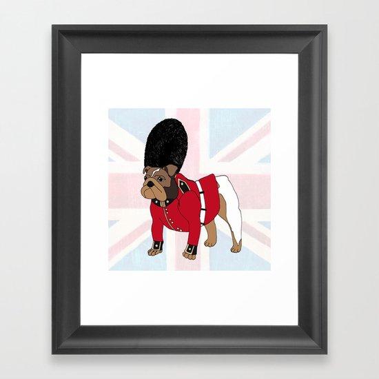 British Bulldog Guard Framed Art Print