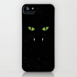 """Black Cat"" Halloween Poster iPhone Case"