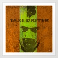 taxi driver Art Prints featuring Taxi Driver by Ganech joe
